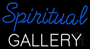 Blue Spritual Gallery LED Neon Sign