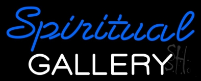 Blue Spritual White Gallery LED Neon Sign