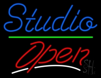 Blue Studio Red Open 1 LED Neon Sign