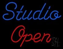 Blue Studio Red Open LED Neon Sign