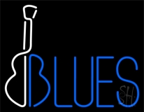 Blues With Guitar 1 LED Neon Sign
