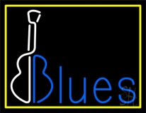 Blues With Guitar 2 LED Neon Sign