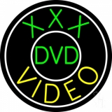 Green Xxx Dvd Yellow Video LED Neon Sign