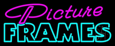 Pink Picture Frames 1 LED Neon Sign