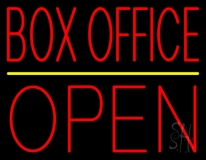Red Box Office Open LED Neon Sign