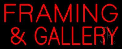 Red Framing And Gallery LED Neon Sign