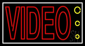 Red Video Tv Logo LED Neon Sign
