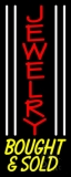 White Line Jewelry Bought And Sold LED Neon Sign