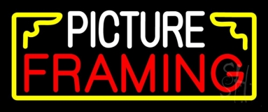 White Picture Framing With Frame Logo LED Neon Sign