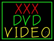 Xxx Dvd Video With Border LED Neon Sign