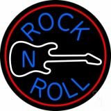 Blue Rock Disc 1 LED Neon Sign