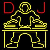 Red Dj Disc Jockey Music LED Neon Sign