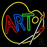 Multi Color Art With Palate LED Neon Sign