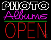 Photo Albums With Open 1 LED Neon Sign