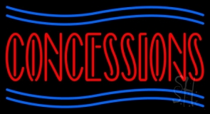 Red Concessions LED Neon Sign