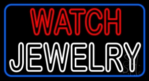 Red Watch White Jewelry LED Neon Sign