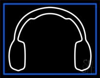 White Headphone LED Neon Sign