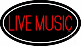 Block Live Music Red 2 LED Neon Sign