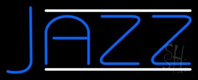 Blue Jazz Block Double Line Neon Sign