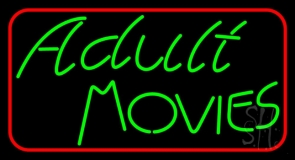 Green Adult Movies LED Neon Sign