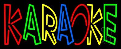 Multi Colored Karaoke LED Neon Sign