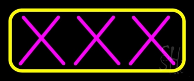 Pink Xxx LED Neon Sign