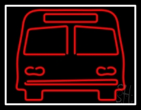 Red Bus LED Neon Sign