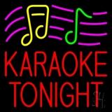 Red Karaoke Night Block 2 LED Neon Sign