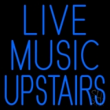 Live Music Upstairs Blue LED Neon Sign