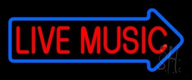 Live Music Block Arrow 2 LED Neon Sign