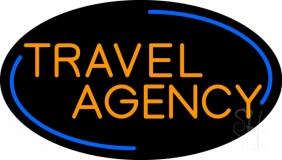 Orange Travel Agency Neon Sign