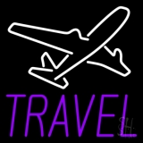 Purple Travel With Logo LED Neon Sign