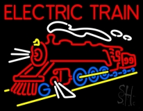 Red Electric Train Logo Neon Sign