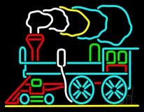 Train Logo Neon Sign