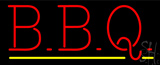 Red BBQ Yellow Line LED Neon Sign