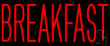 Red Breakfast Block LED Neon Sign