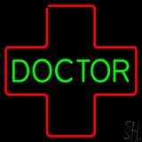 Green Doctor Medical Logo LED Neon Sign