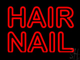 Red Double Stroke Hair Nail LED Neon Sign