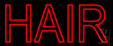 Red Double Stroke Hair LED Neon Sign