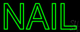 Green Double Stroke Nail LED Neon Sign