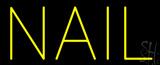 Yellow Nail Block LED Neon Sign