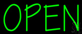 Green Open LED Neon Sign