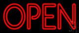 Red Double Stroke Open LED Neon Sign