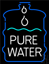 White Pure Water in Bottle LED Neon Sign