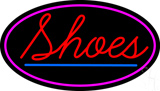 Red Shoes Pink Oval LED Neon Sign