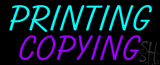 Turquoise Printing Purple Copying LED Neon Sign