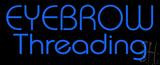 Blue Eyebrow Threading LED Neon Sign