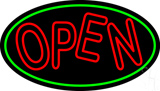 Red Double Stroke Open Oval LED Neon Sign
