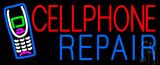 Red Cellphone Blue Repair Logo LED Neon Sign