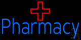Blue Pharmacy with Medical Logo LED Neon Sign